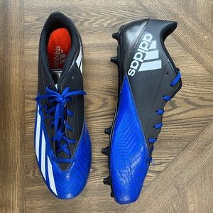 Adidas blue and black low cleats